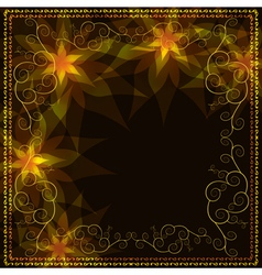 Ornamental golden background with decorative vector image