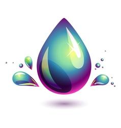 Petroleum drop vector image
