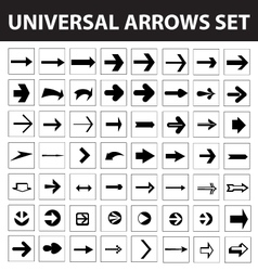 Set of 56 arrows icons vector image vector image