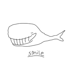 Smiling whale vector