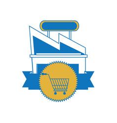supermarket building icon vector image