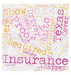 Texas auto insurance faq text background wordcloud vector