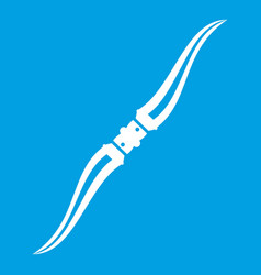 Throwing ninja knife icon white vector