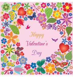 Valentines day invitations design vector image