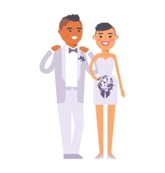Wedding couple people vector image