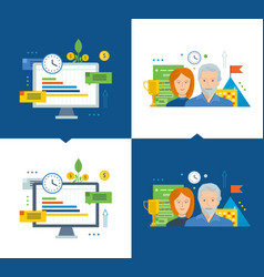 workflow and efficient project management growth vector image