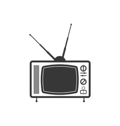 Tv technology retro vintage icon graphic vector image