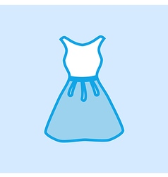 Dress icon simple blue vector