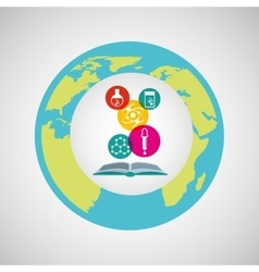 Eco science research chemistry icons vector
