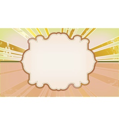 template frame with the rays in the background vector image