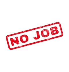 No job rubber stamp vector