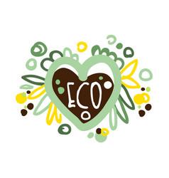 Eco label logo graphic template healthy vector