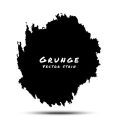 Black Watercolor Grunge Splatter vector image