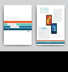 Business brochure template with smartphones vector