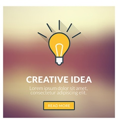 Flat design concept for creative idea with vector