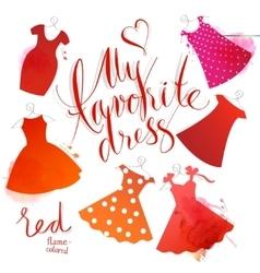 Watercolor dress vector image