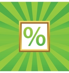 Percent picture icon vector