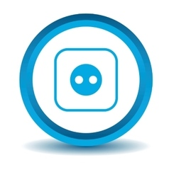 Socket icon blue 3d vector