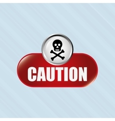 caution sign design vector image