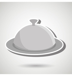 Tray of food design vector
