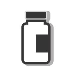 Medical medicine bottle vector