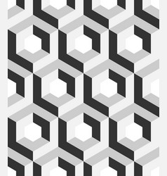 Abstract 3d background of isometric hexagonal vector