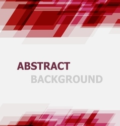 Abstract red geometric overlapping background vector