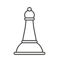 Chess bishop isolated icon vector