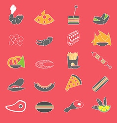Colorful flat flood snacks vector
