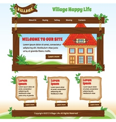 Country web template vector image