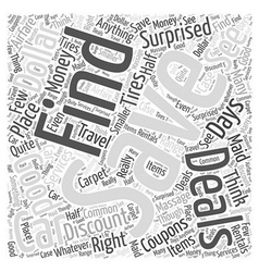 Discount coupons word cloud concept vector