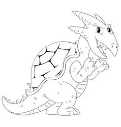 Doodle animal for dragon vector