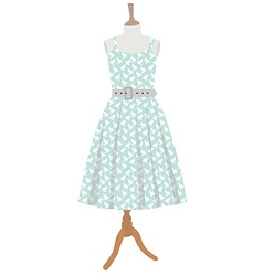 Dress on mannequin vector