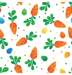 Eastern Carrot and Eggs Seamless Pattern vector image