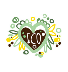 eco label logo graphic template healthy vector image vector image