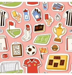 Euro soccer seamless pattern vector image