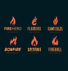 fire logos vector image