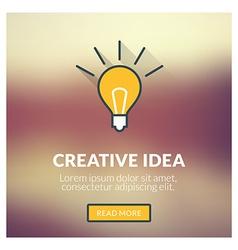 Flat design concept for creative idea with vector