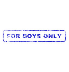 For boys only rubber stamp vector
