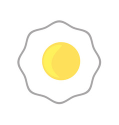 fried egg breakfast image vector image