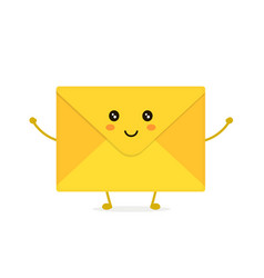 funny happy cute smiling envelope letter vector image vector image