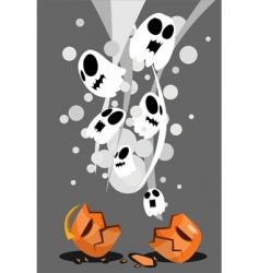 Halloweenposter vector image vector image