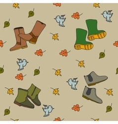 Handdrawn autumn seamless pattern vector