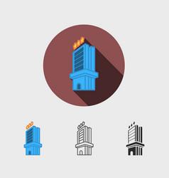 hotel modern icon vector image