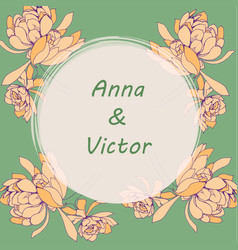 Invitation card for wedding vector