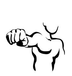Line Art Fist vector image