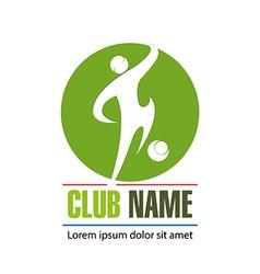 Logo football club vector