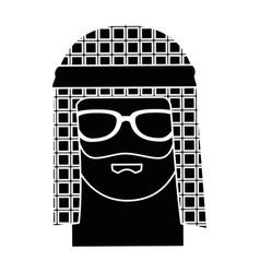 muslim man avatar character vector image