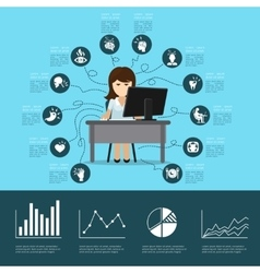 Office syndrome infographics vector image vector image