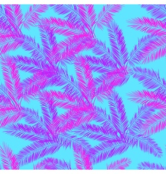 Pink blue and purple palm seamless pattern vector